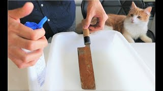 Download Polishing a Rusty Knife 3Gp Mp4