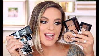 Download FULL FACE USING ONLY MAYBELLINE MAKEUP! | Casey Holmes 3Gp Mp4