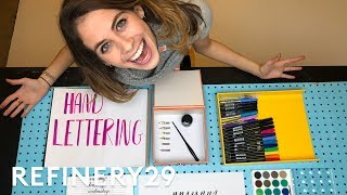 Download 5 Days of Calligraphy Hand Lettering | Try Living With Lucie | Refinery29 3Gp Mp4