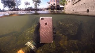 Download Found Lost iPhone Underwater in River While Snorkeling! (Freediving) 3Gp Mp4