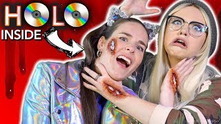 Download I'M HOLO INSIDE! Holographic scar makeup ft. Glam&Gore 3Gp Mp4