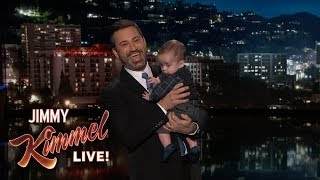 Download Jimmy Kimmel Returns with Baby Billy After Heart Surgery 3Gp Mp4