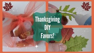 DIY Thanksgiving Favors | Also used as Place Settings!
