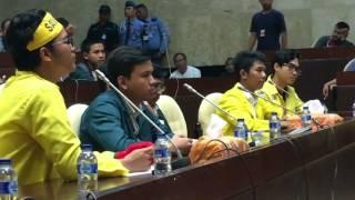 Dokumentasi Pertemuan DPR RI dengan Mahasiswa ITB dan UI