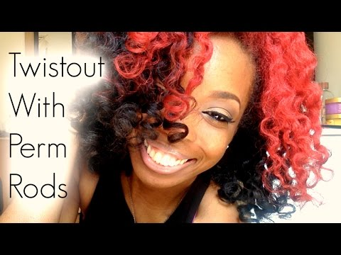 Styling 4c Natural hair: Flat Twist Out w/ Perm Rods - ModernVDO.com