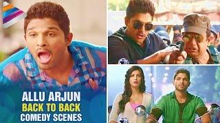Allu Arjun Back To Back Comedy Scenes | Best Comedy Scenes | Race Gurram Movie | Telugu Filmnagar