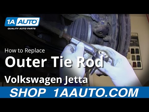How To Install Replace Outer Tie Rod 1999-06 VW Volkswagen Jetta Golf and Beetle
