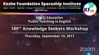 189th Knowledge Seekers Workshop Thursday September 14th, 2017