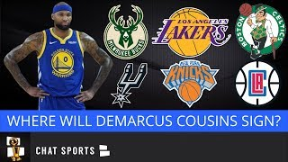 7 Teams That Could Sign DeMarcus Cousins in 2019 NBA Free Agency Including The Knicks & L.A. Lakers