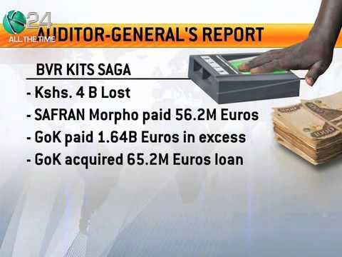 Auditor-General Report Reveals Gov't Lost Ksh4 Bilion In Procurement Of BVR Kits