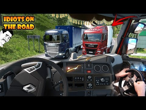 ★ IDIOTS on the road #67 - ETS2MP | Funny moments - Euro Truck Simulator 2 Multiplayer