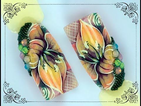 Цветы на ногтях. Работа на клиенте