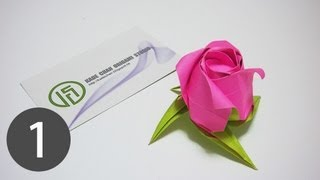 Part1/3 : How to fold Origami Rose of Janessa 摺紙玫瑰花教學 ( Kade Chan )