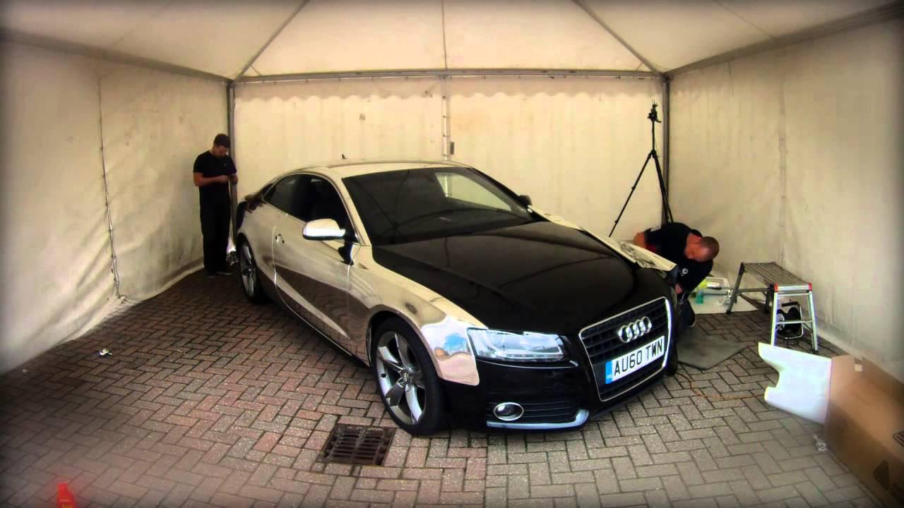 Chrome Wrap On An Audi A5 The Car Wrap Club Youtube