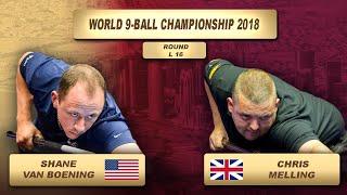 Shane Van Boening - Chris Melling | World 9-Ball Championship 2018