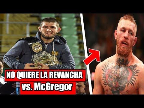 Khabib justifica su trifulca tras la pelea con McGregor