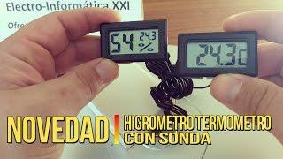 ✅VIGILAR la 💦HUMEDAD💦 con Termometro Higrometro con Sonda para Incubadoras, Nacedoras o Terrarios