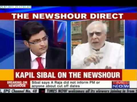 Kapil Sibal Ripped off Arnab Goswami
