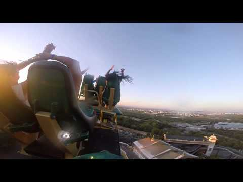SHAMBALAH - PORT AVENTURA (Barcelona) Best roller coaster Europe.