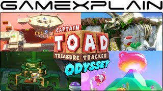 All 4 Mario Odyssey Kingdoms in Captain Toad: Treasure Tracker - FULL Playthrough (Switch EU)