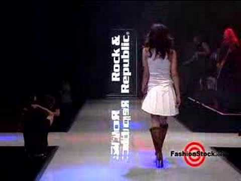 Kimberly Stewart on the Rock & Republic runway