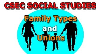 Family Types and Unions (CSEC Social Studies Lecture series)