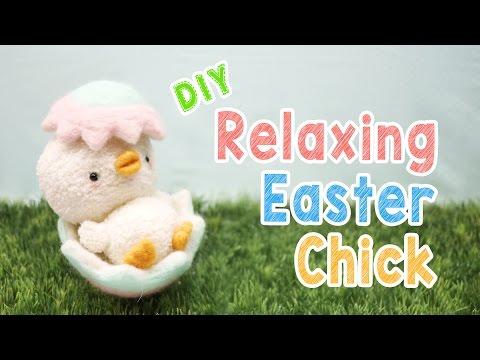 DIY Relaxing Easter Chick Plush - DIY húsvéti plüss csibe készítése