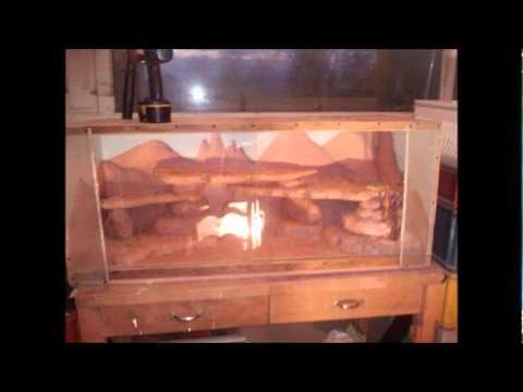 construction terrarium en bois pour pogonas youtube. Black Bedroom Furniture Sets. Home Design Ideas
