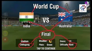 wcc2- world cup final match gameplay (India VS Australia)