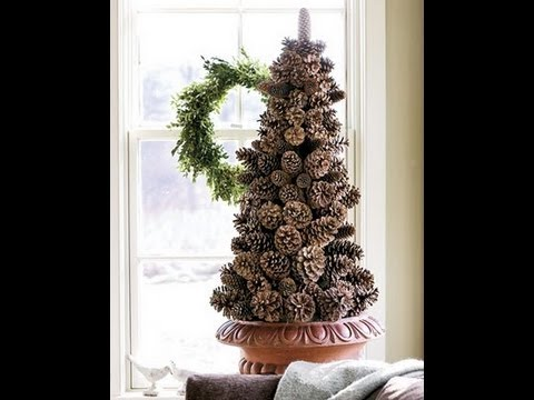 christmas tree made from pine cones diy youtube. Black Bedroom Furniture Sets. Home Design Ideas