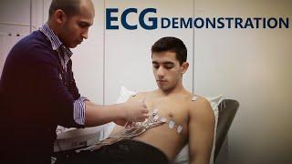 ECG Lead Placement - OSCE Exam Demonstration