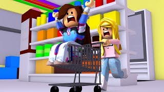 TRAPPED IN THE SUPERMARKET FOR 24 HOURS! (Roblox)
