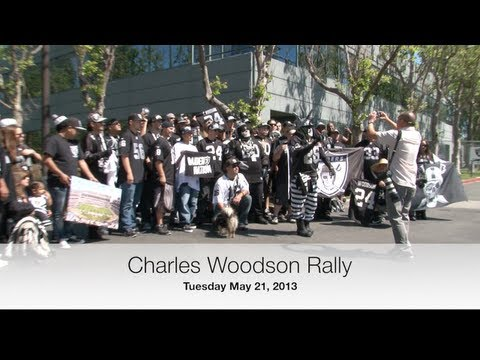 Charles Woodson Rally - Oakland Raiders Alameda HQ - 5/21/13