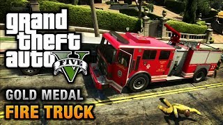 GTA 5 - Mission #65 - Fire Truck [100% Gold Medal Walkthrough]