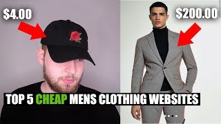 My Top 5 BEST Cheap Men's Clothing Websites - Affordable Men's Fashion