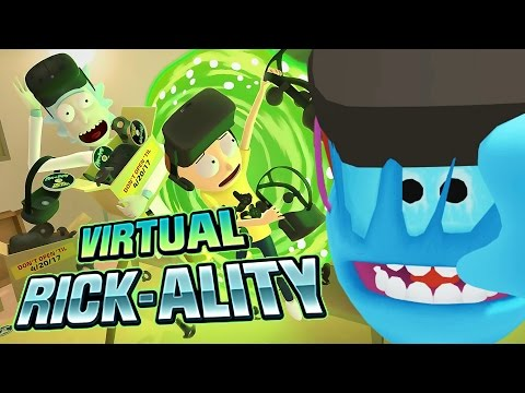 More virtual reality, undust your overpriced low resolution boxes and strap them to your forhead. https://twitter.com/RobbazTube Game: Rick and Morty: Virtual Rick-ality.