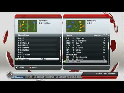FIFA 13 Gameplay - Manchester United vs Atlético Madrid (HD)