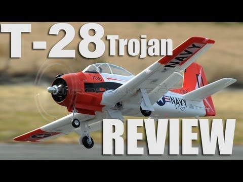 New Airfiled 1400mm T-28 Trojan Warbird w/ Retracts Review