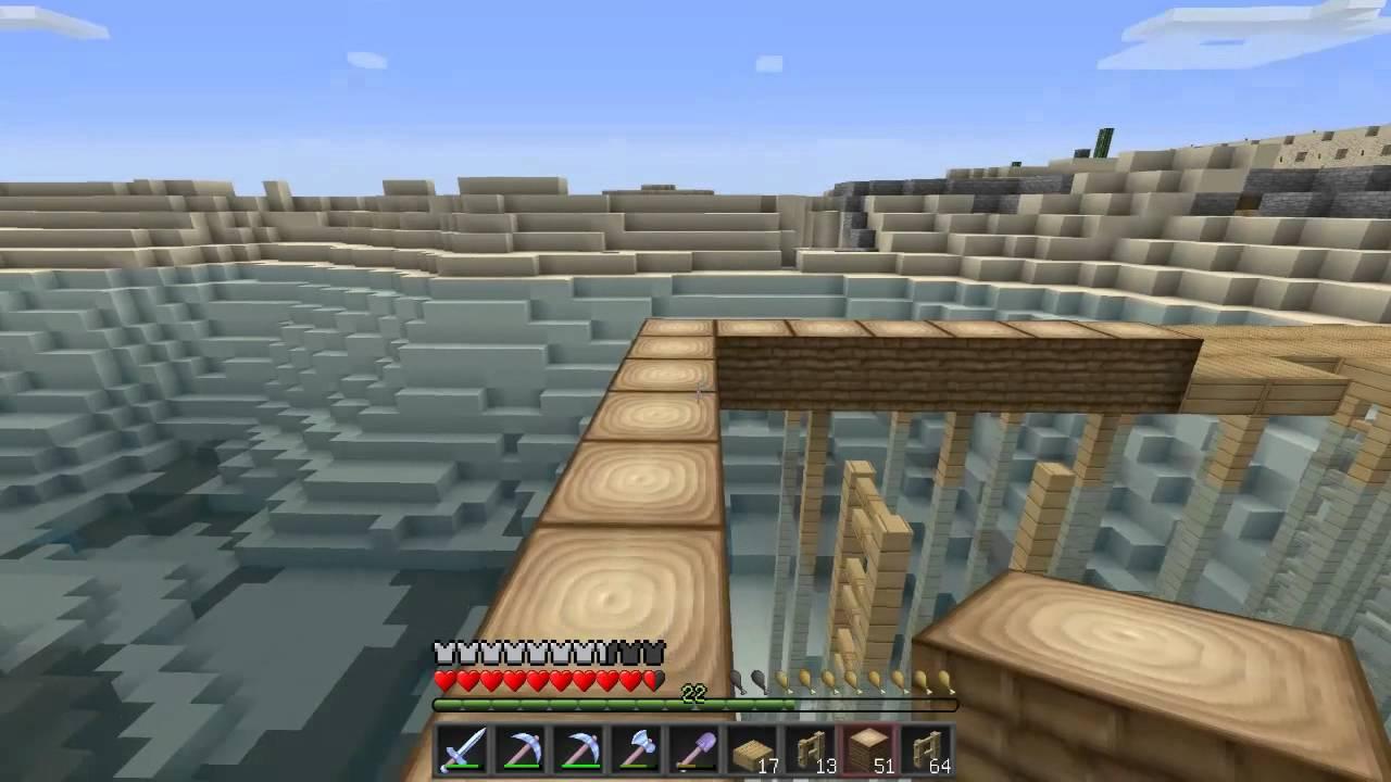 Construction d 39 une maison sur pilotis dans minecraft youtube for Construction de maison sur minecraft