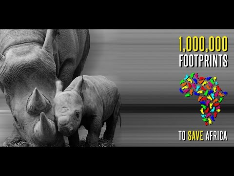 1,000,000 Foot Prints To Save Africa - A Children4Conservation and One More Generation campaign