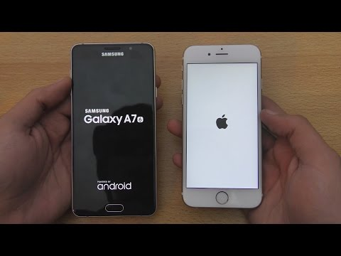 Samsung Galaxy A7 (2016) vs iPhone 6S - Speed & Camera Test (4K)