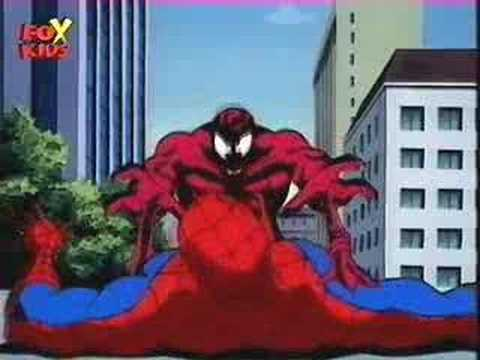 Spiderman Cartoon-Spidey meet Carnage part1