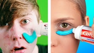 Trying 27 VIRAL HACKS TESTED AND BUSTED by 5-Minute Crafts