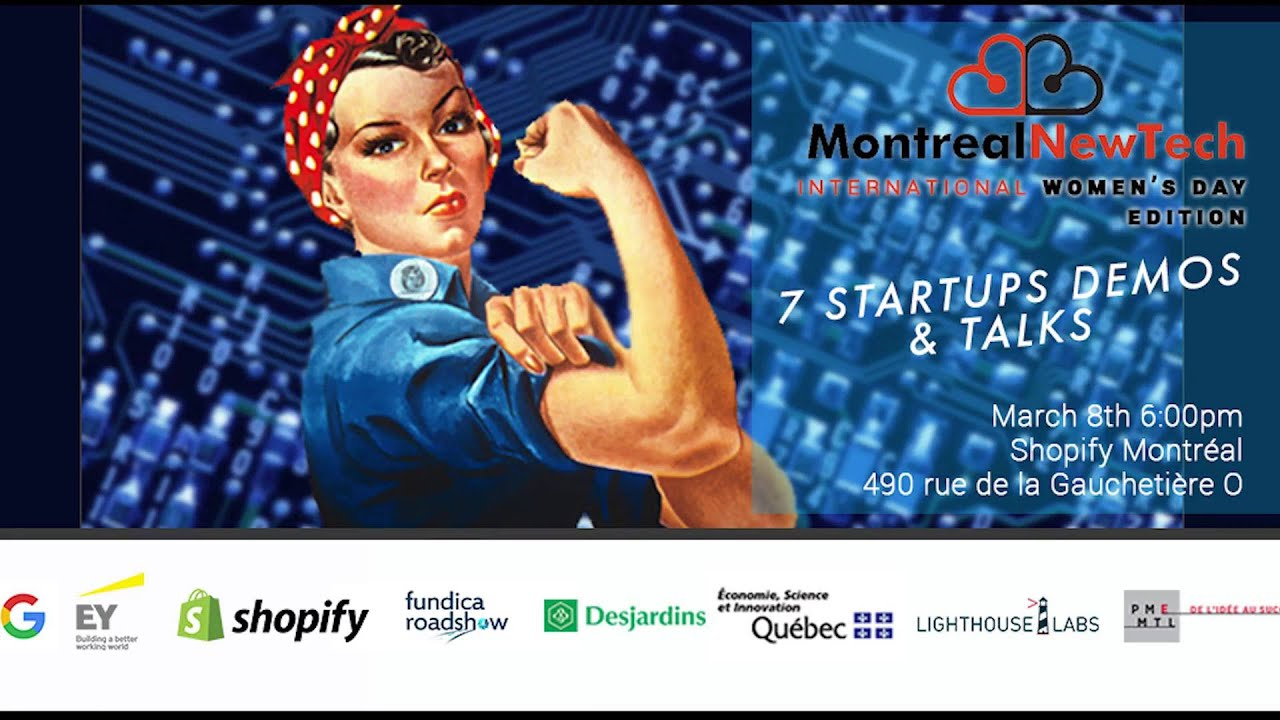 Montreal New Tech - International Women's Day Edition Cookit