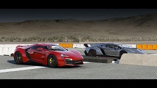 0312 lykan hypersport vs lamborghini veneno drag race