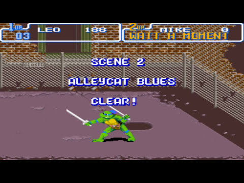{NOSTALGIA} Teenage Mutant Ninja Turtles 4   Turtles in Time SNES Gameplay PT BR