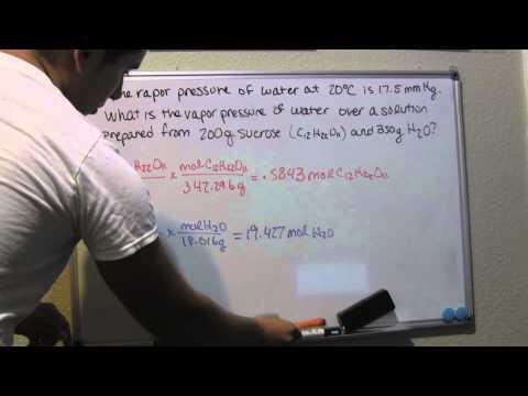 Calculate Vapor pressure lowering -  Problem 435