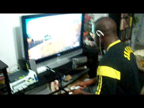 Jamaican boy bust his ass playing game