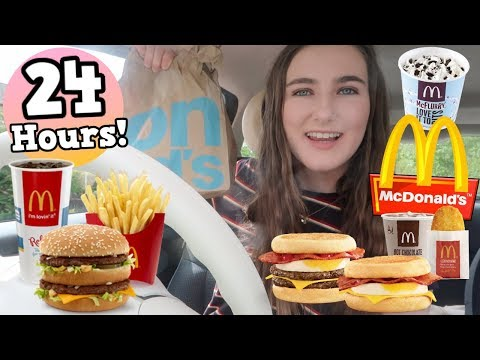 I ate ONLY MCDONALD'S food for 24 HOURS!