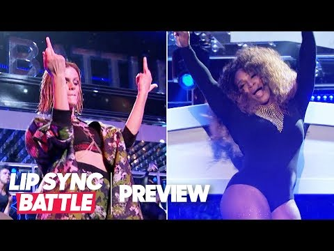 """Serena Williams Joins Brooklyn Decker for Beyoncé's """"Sorry""""   Lip Sync Battle Preview"""